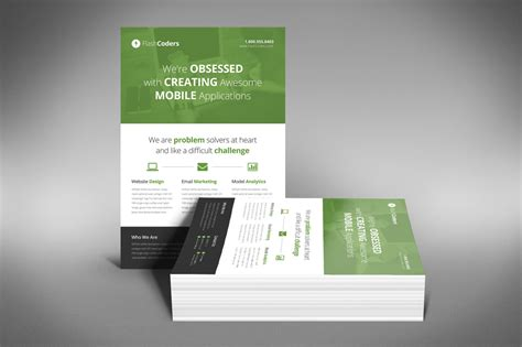 A Professional and Free Flat Design Corporate Flyer PSD
