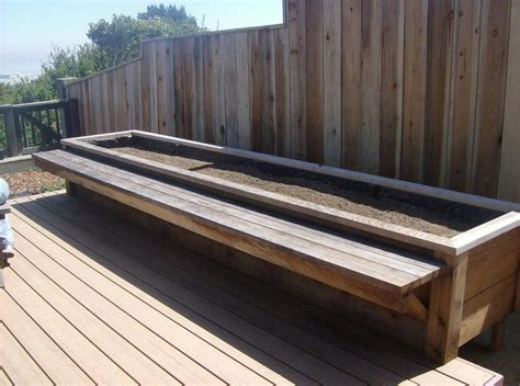 garden box bench custom planter box benches garden pinterest