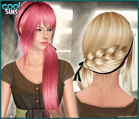download hair female the sims 3 my sims 3 blog coolsims hair 96 for females braid tail