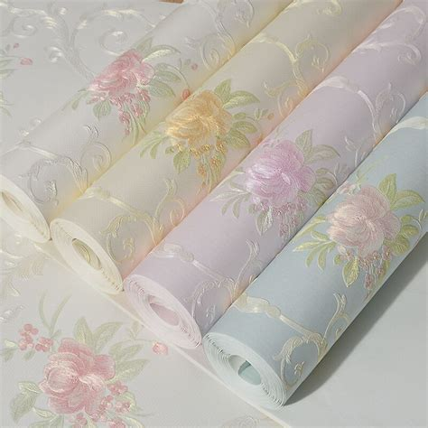 floral wallpaper for walls romantic floral wallpaper for walls non woven flower wall