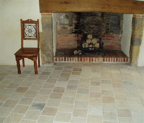 Tumbled Fireplace by Limestone Rock Flooring