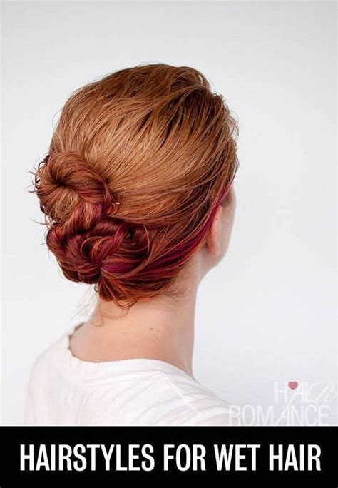 hairstyles when your hair s wet 16 brilliant summer hair hacks you never knew you needed