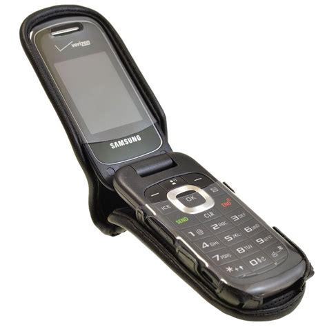 samsung gusto  executive black leather case flip phone