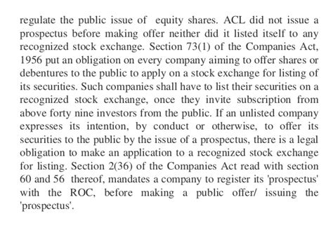 section 73 of companies act listing issue of prospectus mandatory before public