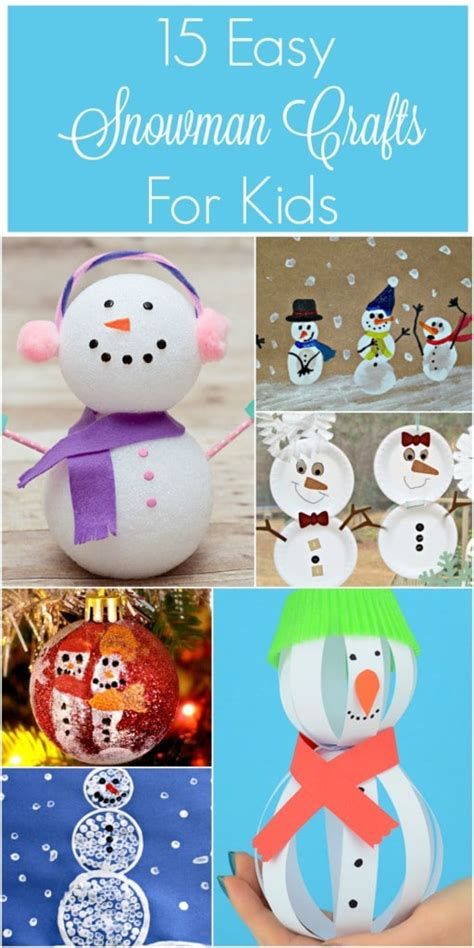 easy snowman crafts for 15 easy winter snowman crafts for socal field trips