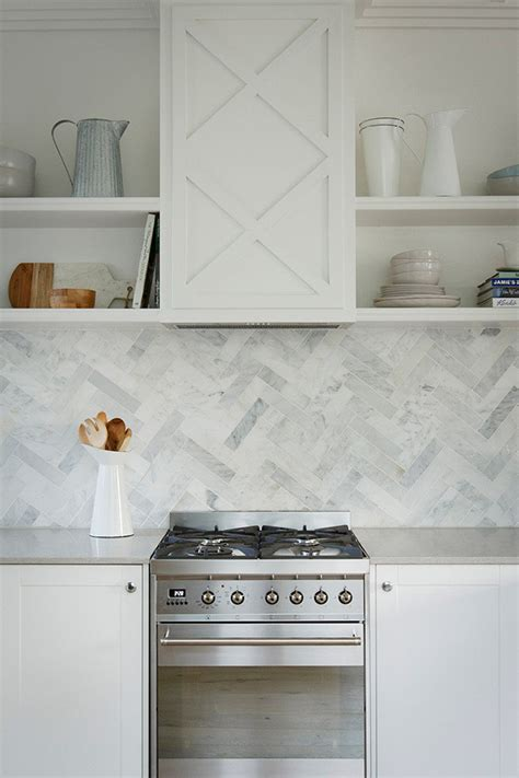 6 Ideas For Introducing Herringbone Patterns Into Your Herringbone Kitchen Backsplash