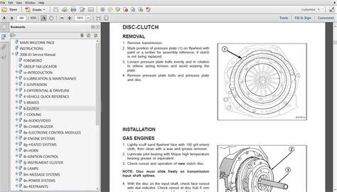 vehicle repair manual 2006 jeep liberty electronic valve timing service manual service manuals schematics 2006 jeep liberty security system service manual