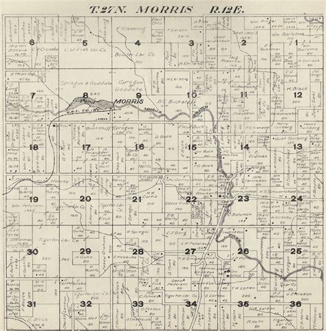 morris county section 8 1920 morris township shawano county plat map