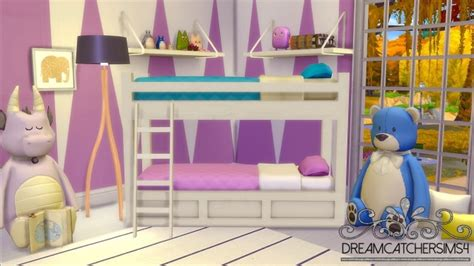 4 bed bunk bed basic bunk bed frame only at dreamcatchersims4 187 sims 4