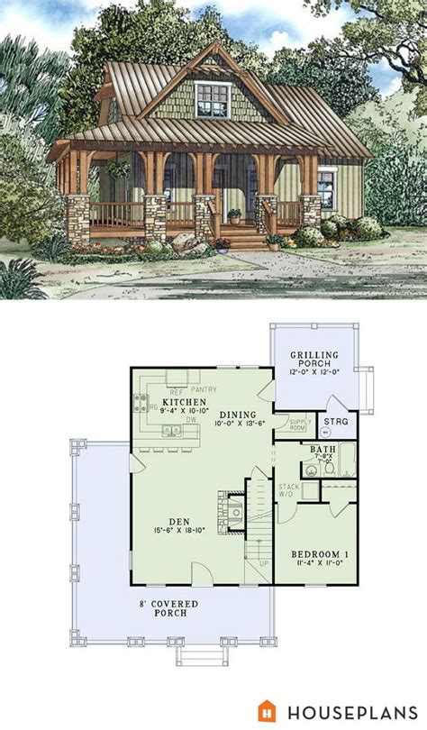 Small House Plans With Porch 1000 Images About Small House Plans On