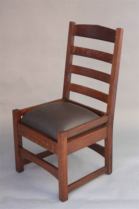 Mission Chairs For Sale by 1910 Arts And Crafts Mission Oak Ladder Back Chair For