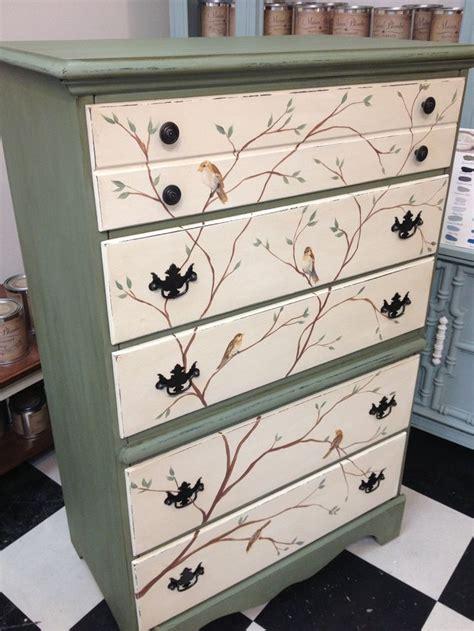 repaint furniture furniture pinterest green bird dresser my painted furniture pinterest