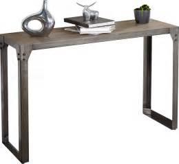 console design bois d acacia et metal comforium