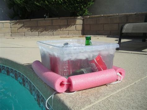 diy floating cooler how to turn a pool noodle into a diy floating cooler