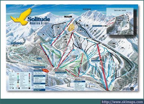 solitude trail map solitude piste map trail map