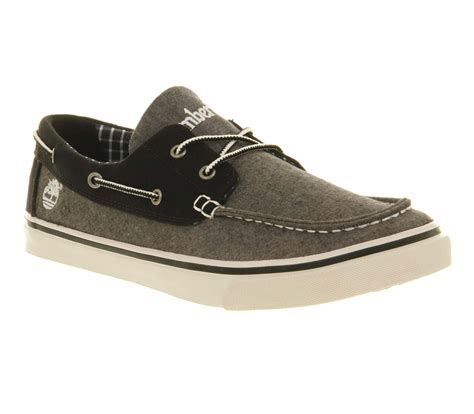 timberland gray boat shoes mens timberland hookset boat shoe black grey chamb casual