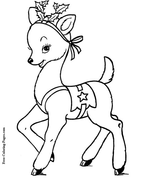 rudolph coloring pages christmas