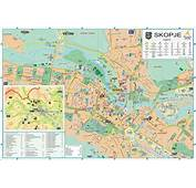 Stadtplan Von Skopje  Detaillierte Gedruckte Karten