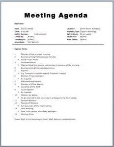 meeting itinerary template sle agendas for meetings basic meeting agenda template