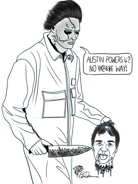 Dsc 311011 The Real Mike Myers Artgasm Michael Myers Coloring Pages