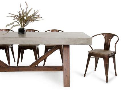 modern concrete dining table modrest revok modern concrete acacia dining table