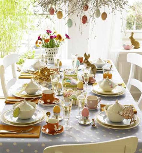 Spring Table Decorations | 14 colorful easter ideas for spring holiday table decoration