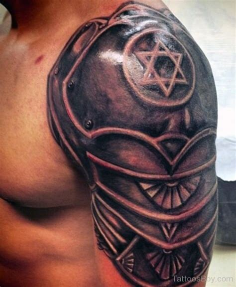 armor shoulder tattoo armor tattoos designs pictures