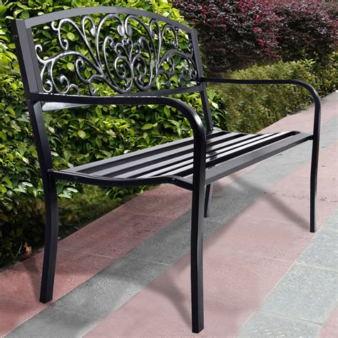 steel garden bench steel garden bench park bench outdoor lounge patio chair