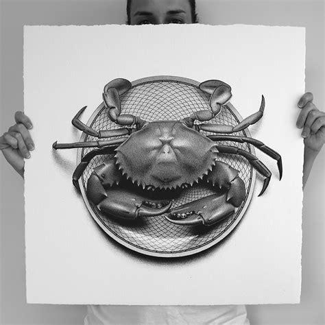 artist cj hendry draws 50 photorealistic foods in 50 days