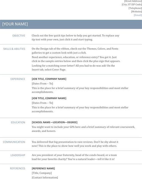 general resume template free general resume template free premium
