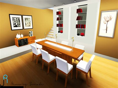 Dining Room Set Sims 3 My Sims 3 Wooden Dining Set By Lory Story