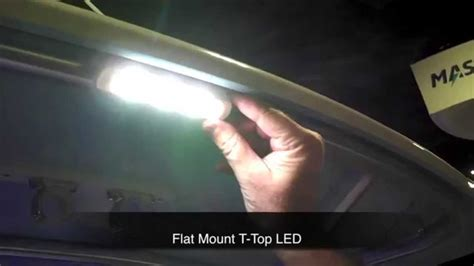 boat t top pipe taco marine led lights for decks and t tops youtube