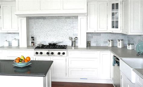 white carrara marble subway tiles backsplash