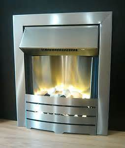 electric silver 1kw 2kw wall pebble fireplace suite