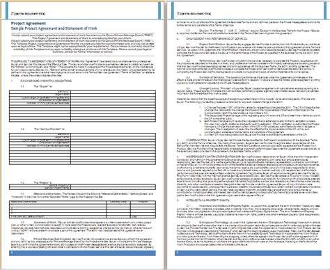 project agreement template ms word project agreement template free agreement templates