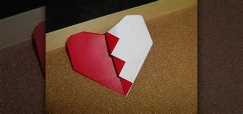 Origami Valentines Day - how to fold an easy origami broken s day