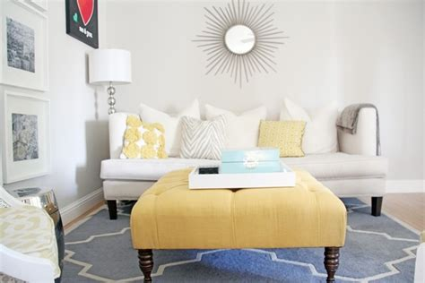 gray and yellow ottoman i love this button tufted upholstered ottoman from target looks great in a gray room craft