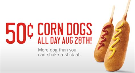 sonic 50 cent corn dogs sonic offers 50 cent corn dogs deal