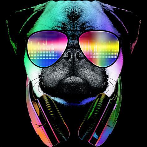 wearing pug shirt cool pug wearing headphones t shirt