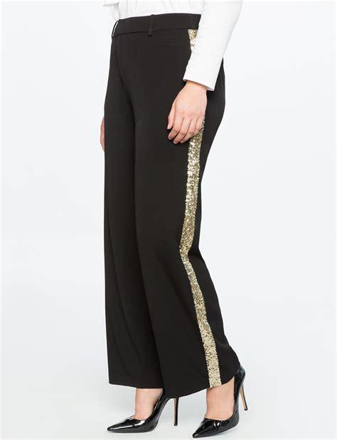 Black Line Pant plus evening pant sets pantsuits