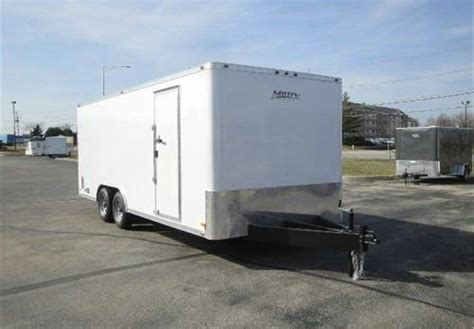 enclosed landscape trailers enclosed polar white 8 x 20 motiv enclosed landscape