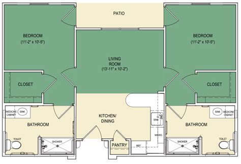 assisted living floor plan senior assisted living facilities arabella athens tx