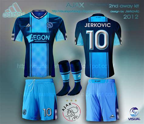 Jersey Ajax Away By Premier Sport visual football kit design ajax adidas