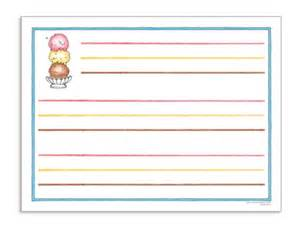 Ice Cream Writing Paper Ice Cream Chart Paper Horizontal Isbn 978 1 59833 278 0