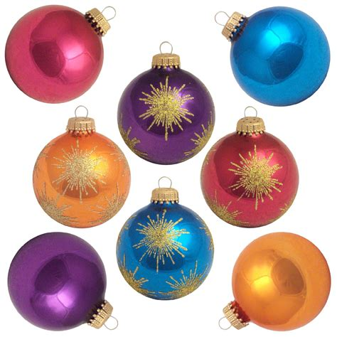 christmas by krebs glass christmas ornaments 8 ct