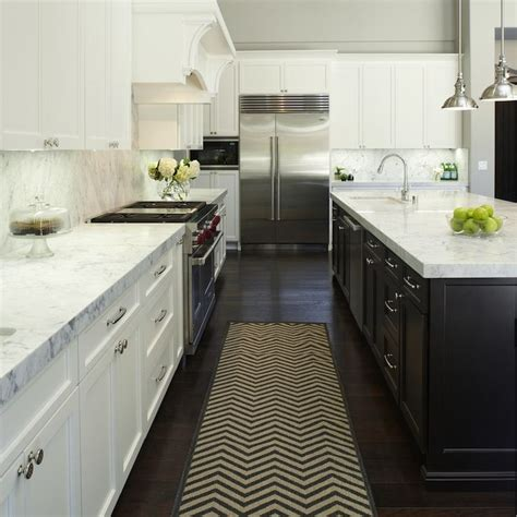 black and white kitchen rugs chevron runner transitional kitchen fautt homes kitchen runners cabinets and