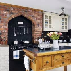 brick kitchen ideas brick feature wall kitchen kitchens design ideas