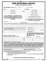 form 101hi prime home improvement contract reusable pdf