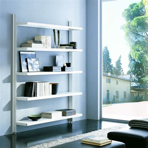 mensole autoportanti brody libreria a giorno da parete in acciaio e alluminio