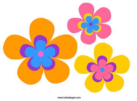 fiori disegni colorati fiori colorati da stare e ritagliare tuttodisegni